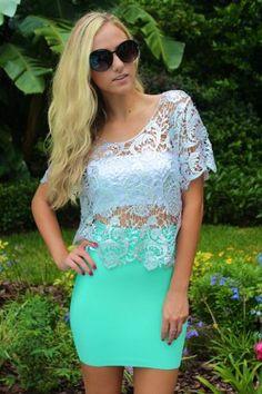 #Sophie&Trey              #Skirt                    #Mint #Bandage #Skirt     Mint Bandage Skirt                                  http://www.seapai.com/product.aspx?PID=1020313