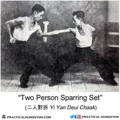 "Hung Ga ""Two Person Sparring Set"" - rare vintage photo from Lam Sai Wing Memorial Book Chinese Martial Arts, Martial Arts Workout, Martial Artists, The Grandmaster, Tai Chi, Kung Fu, Vintage Photos, Warriors, Weapons"