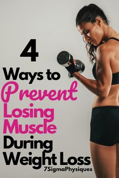 To keep a fast metabolism and strong tissues, you must focus on maintaining muscle mass. Here are 4 ways to prevent losing muscle during weight loss. Weight Loss Meals, Quick Weight Loss Tips, Weight Loss Drinks, Losing Weight Tips, Best Weight Loss, Healthy Weight Loss, How To Lose Weight Fast, Weight Gain, Lose Lower Belly Fat