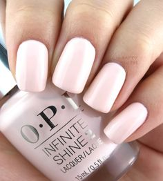 OPI 'No Strings Attached' Infinite Shine Summer 2016 Collection Essie, Summer Nails 2018, Summer 2016, Acrylic Toes, Opi Nail Colors, French Nail Designs, Oval Nails, Pastel Nails, Nagel Gel