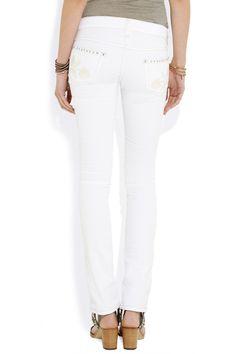 Isabel MarantGalix embroidered low-rise skinny jeansback
