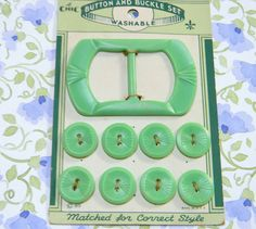 Vintage Jadeite Green Matching Buttons and by ChocolateBayouShop, $9.00