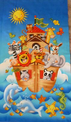 Ark Party Panel by 245 Design for Timeless by SuesFabricNSupplies, $9.95