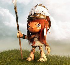 Designs de personagens animados em 3D