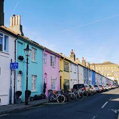 Brighton is full of colourful houses and streets like this one. Situated in North Laine just minutes from the station it's easy to find. Brighton City, Brighton Houses, Brighton England, Brighton And Hove, Oh The Places You'll Go, Places To Travel, Christmas In England, Abandoned Amusement Parks, And So The Adventure Begins