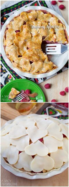 Vibrant Raspberry Apple Pie #fall #applepie #holiday #raspberrydessert @spicyperspectiv