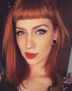 Red Hair, Short Bangs