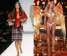 Walking the Tommy Hilfiger Spring/Summer 2006 show in 2005, and on the Victoria's Secret runway in 2014. We barely even recognize baby-faced Swanepoel as she makes her runway debut at Tommy Hilfiger in 2005! The then-16-year-old would sign with Victoria's Secret two years later, launching a career that's still going strong.   - HarpersBAZAAR.com