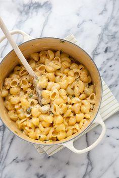 Creamy Poblano Stovetop Mac and Cheese