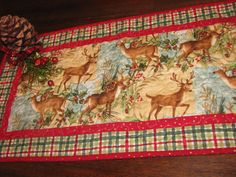 Christmas Quilted Table Runner  Table Topper  by QuiltsintheCity, $26.00