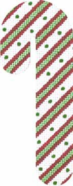 Candy Cane - Green Dot (hand painted canvases)
