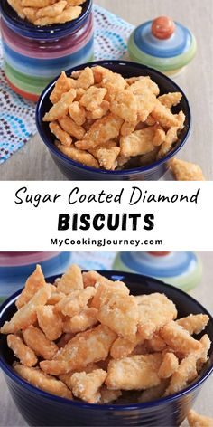 Enjoy this traditional sweet for this Diwali. Shakkarpara or Shankarpali are sugar coated diamond shaped biscuits that has been my favorite as a child to this date. #biscuits #sugarbiscuits #diwalicookies #mycookinjourney @mycookinjourney | mycookingjourney.com