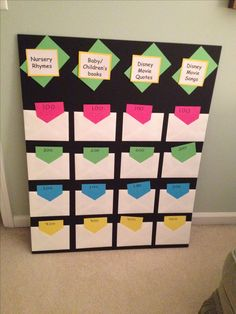 Baby Shower Jeopardy Board