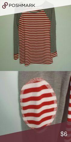 Boutique Striped Tunic Elbow patches, EUC, cat friendly home. Twenty Second  Tops Tunics