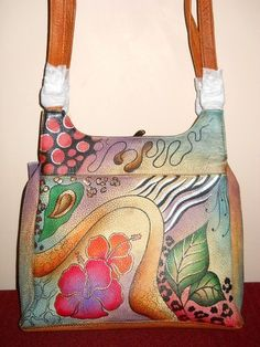 'Anuschka Hand Painted Leather Satchel ' is going up for auction at  5pm Tue, Jan 29 with a starting bid of $20.