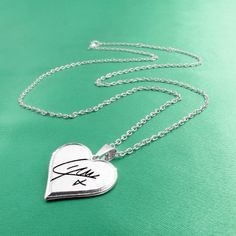 One Direction 'Liam Signature' Heart Necklace ($18) ❤ liked on Polyvore