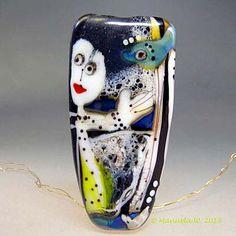 Artist handmade lampwork bead  Rising   by ManuelasGlassArt