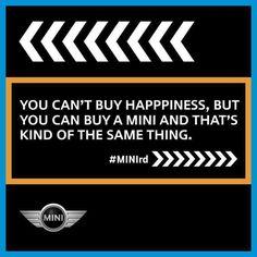 That says it all, especially a classic Mini! Mini Cooper 2017, Mini Cooper Clubman, Mini Countryman, Cooper Cars, Mini Driver, Mini Lifestyle, Mini Copper, John Cooper Works, Mini One