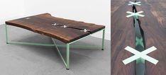Table basse design en bois massif Uhuru