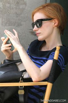 Jessica Chastain on the set of 'The Disappearance of Eleanor Rigby' in New York City, New York - August 6, 2012