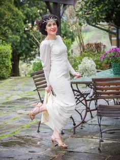 Retro Boüret bride dress