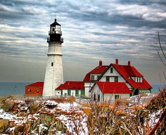 Portland Head Light/Fort Williams Park in Maine