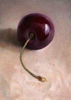 Food art/photography- cherry still life. Photo Macro, Still Life Fruit, Illustration Art, Illustrations, Fruit Painting, Painting Still Life, Painting Inspiration, Food Art, Painting & Drawing