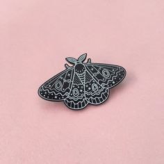 Image of Glow moth pin