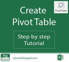 Raj Excel: Create a Pivot Table Computer Help, Computer Programming, Computer Tips, Computer Literacy, Excel Hacks, Pivot Table, Importance Of Time Management, Microsoft Excel, Microsoft Office
