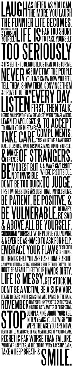 the ams manifesto - words to live by... [http://www.behance.net/gallery/The-AMS-Manifesto/2869939]