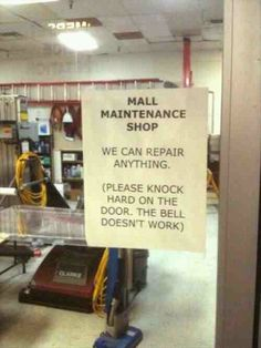 WE CAN REPAIR ANYTHING (well, maybe everything but the DOOR BELL!) LOL!