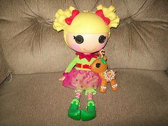 """LaLaLoopsy HOLLY SLEIGH BELLS Full Size Doll 12"""" Complete Outfit Pet 2009 HTF"""