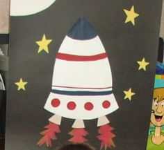 Rocket Birthday Party with jet pack instructions
