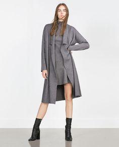 ZARA - WOMAN - LONG COAT WITH DRAPED NECK