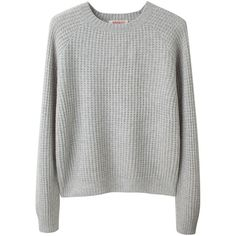 Organic by John Patrick Waffle Knit Pullover (1.775 DKK) ❤ liked on Polyvore featuring tops, sweaters, shirts, jumpers, women, crew-neck shirts, long sweaters, gray shirt, grey sweater and grey shirt