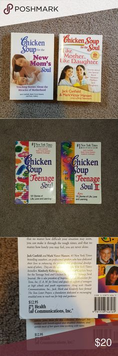 Chicken Soup book bundle Mother and daughter Chicken Soup for the soul books!   New Mom's  Like Mother, Like Daughter Teenage Soul Teenage Soul II  excellent condition, no rips/missing pages  Great personal reads, daughter, or gift. I can separate if desired, just let me know  :) Other