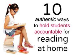 "Let's face it: reading logs are boring, and most kids hate writing down the titles and authors of books they've read in order to ""prove"" they've done their required 20 minutes of reading time at home. Here are some more authentic ways to hold students accountable for their reading time and foster a love of books. Please…"