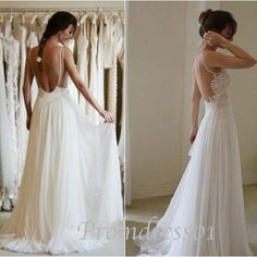 Custom made strapless lace wedding gown, white lace chiffon backless prom dress, cute party dress for teens -> http://www.promdress01.com/#!product/prd1/2432770301/custom-made-strapless-lace-wedding-prom-dress