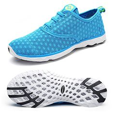 7983eb324015 Dreamcity Women s water shoes athletic sport Lightweight walking shoes Blue  11 B M US
