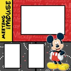 Disney Digital Scrapbook Layouts | Disney Fab 5 Digital Scrapbook Premade Kit • 5 Pages - New and Used ...