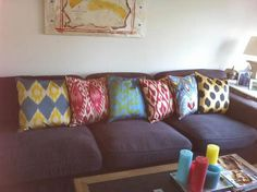 I love bright patterned ethnic decor!