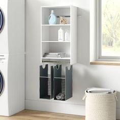 Laundry Room Organization, Laundry Room Design, Laundry Rooms, Closet Rod, Closet Storage, Small Storage, Storage Spaces, Layout Design, Hanging Closet
