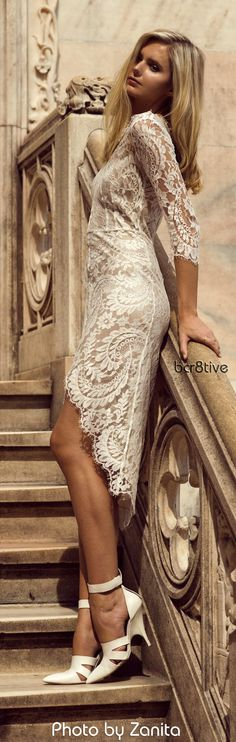 Wearing: Lover dress, Alexander Wang heels, Gorjana and Jacquie Aiche rings. Photo by Zanita