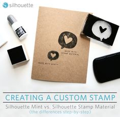 Hello happy crafters! Brittany here. Today, instead of a tutorial, we're gonna be doing things a little differently and go through the differences between creating a stamp using the Silhouette Mint® vs using Silhouette's Stamp Material. I've used both and can say there are quite a few differences (even down to the software), but don't worry, we're gonna cover it all!   Let's first talk about the contents that come with the Silhouette Mint™, and what comes in the Stamp Material Starter…