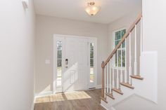 Entryway with laminate flooring in the Sullivan Craftsman