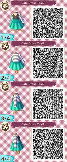 Cute Dress Teal2 QR Code by ChibiBeeBee on DeviantArt