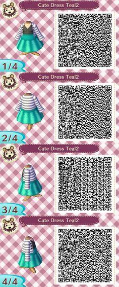 Cute Dress Teal2 QR Code by ChibiBeeBee on DeviantArt