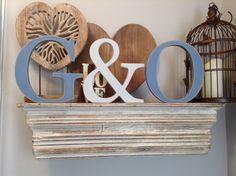 Wooden Wedding Letters  Freestanding  Set of 3  by LoveLettersMe, £25.00