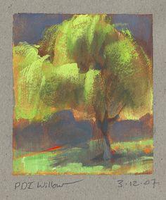 Dekkend schilderen in lagen over elkaar, Nathan Fowkes, Land Sketch