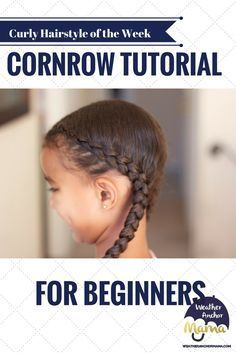 This step-by-step video tutorial shows beginners how to do a cornrow. Also, check out weatheranchormama.com for more dutch braids and other braided hairstyles.
